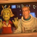 'Lem' voiced by Justin Long and 'Chuck Baker' voiced by Dwayne Johnson in Columbia Pictures' animated comedy PLANET 51. Photo By: Courtesy of Ilion Animation Studios. ©2009 Columbia TriStar Marketing Group, Inc.  All Rights Reserved.
