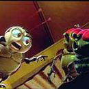 Francis (Denis Leary) tells off some wisecracking bugs in Walt Disney's A Bug's Life - 1998