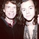 Musician Mick Jagger and Musician Harry Styles of One Direction attend The Rolling Stones Los Angeles Club Show after party at The Fonda Theatre on May 20, 2015 in Los Angeles, California - 454 x 454