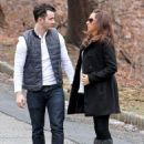 Kevin and Danielle taking a stroll on Wednesday 1/15/14 in New Jersey - 454 x 589
