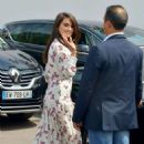 Penelope Cruz in Floral Print Dress out in Cannes