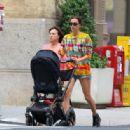 Irina Shayk – With her daughter Lea in New York
