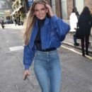 Louisa Johnson in Tight Jeans – Arriving at AOL BUILD in London - 454 x 726