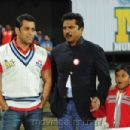 Salman At Mumbai heroes CCL Cricket match