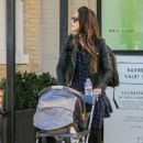 Jordana Brewster with her son Andrew in Los Angeles January 28, 2017 - 454 x 684