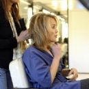 Sharon Stone at a Hair Salon in LA January 31, 2011