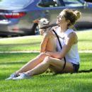 Ashley Greene – Walking her dog in Beverly Hills - 454 x 346