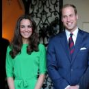 Prince William and his wife Kate attend a reception held in their honor at the British Consul-General's residence on Friday (July 8) in Los Angeles