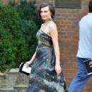 Milla Jovovich: leaving the Bowery Hotel in New York City