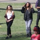 Jessica Alba and Gabrielle Union – On 'L.A.'s Finest' set in Los Angeles - 454 x 303