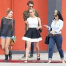 Miley Cyrus grabbed lunch with her pals, February 21, in Sherman Oaks