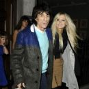 Ron Wood and Nicola Sargent
