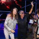 Steven Tyler, Roberto Cavalli and Joe Perry attend the Roberto Cavalli show during the Milan Menswear Fashion Week Spring Summer 2015 on June 24, 2014 in Milan, Italy - 454 x 316