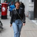 Frankie Bridge – Leaves BBC studios in London - 454 x 623