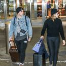 Chloe Moretzand Brooklyn Beckham at JFK Airport in NYC