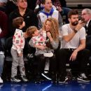 Shakira and Gerard Pique Attend The New York Knicks Vs Philadelphia 76ers Game - 454 x 362