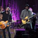 Dave Grohl of the Foo Fighters, and Gary Clark Jr. perform onstage during MusiCares Person of the Year honoring Tom Petty at the Los Angeles Convention Center on February 10, 2017 in Los Angeles, California.