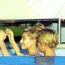 Justin Bieber Gets Cozy in the pool with 18yr old Hailey Baldwin