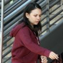Janel Parrish in Tights at Comoncy enjoying brunch in Los Angeles - 454 x 681