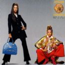 Stephanie Seymour &  Yasmeen Ghauri for Versace