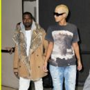 Amber Rose and Kanye West Arriving at LAX in Los Angeles, California - January 27, 2010