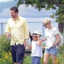 Michelle Williams, Matilda Ledger and Jason Segel out for a walk and lunch in Brooklyn, NY (July 15)