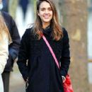 Jessica Alba at the Jardin du Luxembourg in Paris
