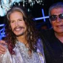 Steven Tyler and Roberto Cavalli attend the Roberto Cavalli show during the Milan Menswear Fashion Week Spring Summer 2015 on June 24, 2014 in Milan, Italy. - 454 x 303