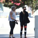 Vanessa Hudgens in Spandex heading to the gym in LA