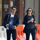Joe Jonas seen with girlfriend Blanda Eggenschwiler in the Meatpacking district in New York City