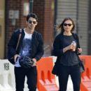 Joe Jonas seen with girlfriend Blanda Eggenschwiler in the Meatpacking district in New York City
