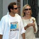 Uma Thurman Eating Ice Cream With Her Fiance In Italy - July 5, 2010 - 454 x 525