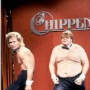 Patrick Swayze and Chris Farley - Saturday Night Live (1990). - 365 x 500