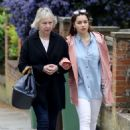 Emilia Clarke with her mother out in London - 454 x 654