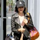Lucy Hale in Tights out shopping in LA