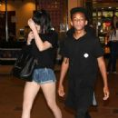 Kylie Jenner and Jaden Smith at the Calabasas Commons movie theater in California (June 26)