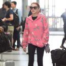 Lindsay Lohan in Tights – JFK Airport in New York