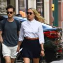 Chloe Sevigny in Black Skirt out in SoHo - 454 x 740