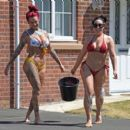 Jemma Lucy and Laura Alicia Summers in Bikini – Car Washing in Manchester - 454 x 402