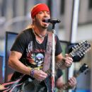 Singer/TV personality Bret Michaels performs during 'FOX & Friends' All American Concert Series outside of FOX Studios on July 18, 2014 in New York City