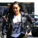 Angela Simmons has lunch at MauroÕs with a friend in West Hollywood, California on March 23, 2017 - 454 x 599