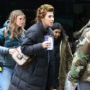 Zosia Mamet on the set of 'The Flight Attendant' in NYC - 454 x 727