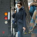 Anne Hathaway is spotted out and about in New York City, New York on April 9, 2015