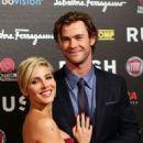 Chris Hemsworth and Elsa Pataky attending the
