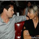 Lena Roklin and Stephen Moyer at Pre-Golden Globes Party