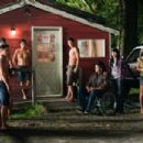 (L to R) ALEX MERAZ, BOOBOO STEWART (seated), KIOWA GORDON, TYSON HOUSEMAN, BRONSON PELLETIER, GIL BIRMINGHAM, TINSEL KOREY and JULIA JONES star in THE TWILIGHT SAGA: ECLIPSE. Photo: Kimberley French. © 2010 Summit Entertainment, LLC. All rights reserved.