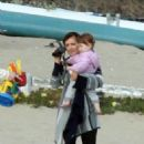 Alyson Denisof - With Her Family At The Beach In L.A. - June 12, 2010
