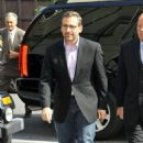 Steve Carell arriving at the CNS studios for an interview in New York City, New York (August 6)