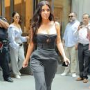 Kim Kardashian in Black Out in NYC