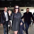 Asia Argento Arriving at Airport in Nice - 454 x 682